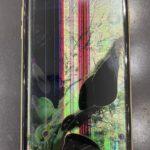 【iPhoneXR】地面に落としてしまい、画面にカラフルな色が出現…。スマップル熊本店が即日修理!!