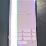 【iPhoneX】落下の衝撃で画面が緑色に光っている…。修理は可能なのか!?